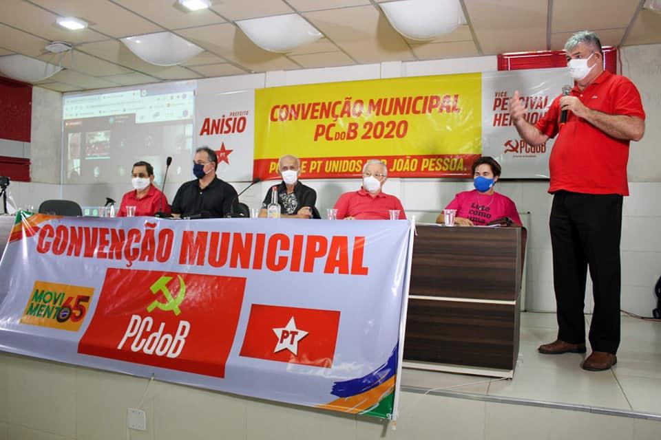 PCdoB João Pessoa realiza convenção e homologa Percival Henriques para vice de Anísio Maia